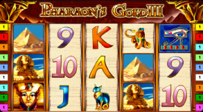онлайн игра в автомат Pharaoh's Gold 3